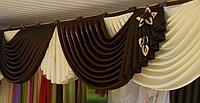 Ламбрекен в зал из портьерной ткани г.Киев