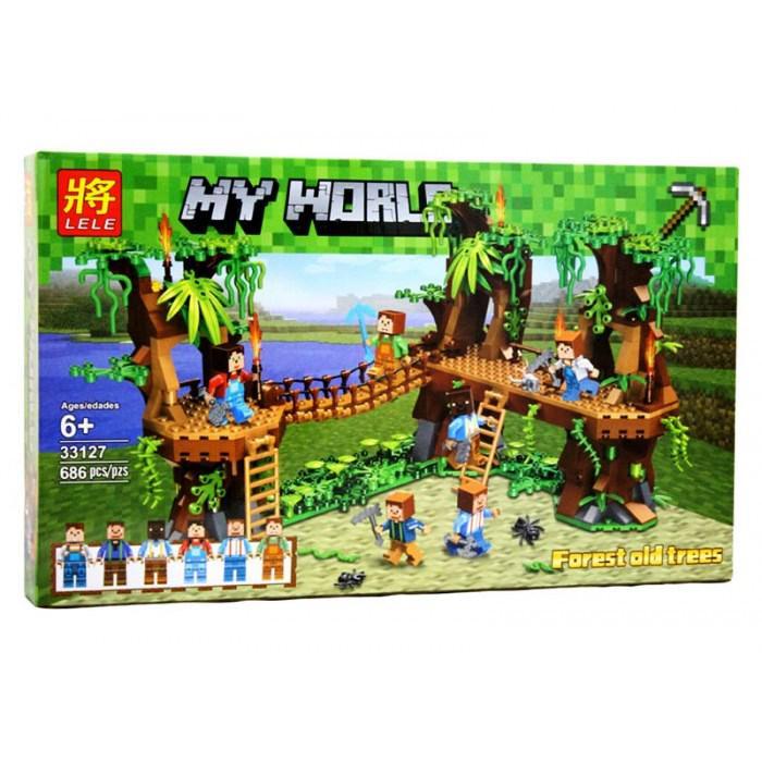 Конструктор Lele 33127 Minecraft Майнкрафт Джунгли 686 дет
