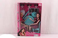 Набор из 2х кукол со столом и стульями