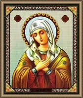 Образ Богородиця Умиління 200х240мм №215 в багетній рамцы
