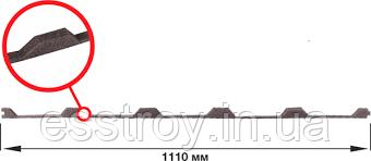 Уплотнитель для Профнастила Т20 (Прушински)., фото 2