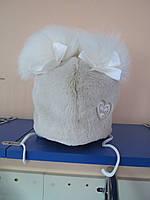 Детская зимняя меховая шапка  для девочек Klimani 48-50р;50-52р