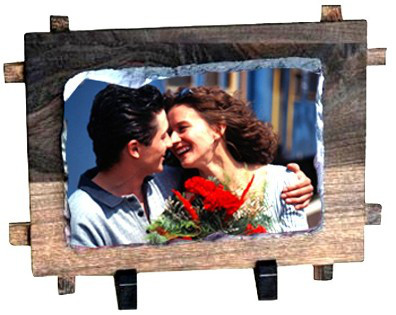 Фотокамень в рамке Small Rectangle with frame SH38 (16х11 см) с Вашим дизайном