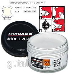 Крем для гладкой кожи Tarrago Shoe Cream 50 мл цвет белый (01)