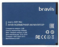 Аккумулятор оригинал Bravis Neo A401 3.8V 1650 mAh