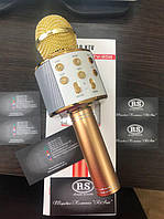 Микрофон, беспроводной с динамиком WS-858 KTV 858