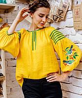 Блуза вышиванка женская на льне Колорит