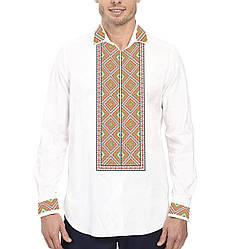 Заготовка чоловічої сорочки та вишиванки для вишивки чи вишивання бісером Бисерок «Ромби» (Ч-502 )