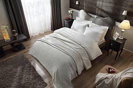 Подарочный набор постельное белье, покрывало и полотенца TAC AVON EKRU