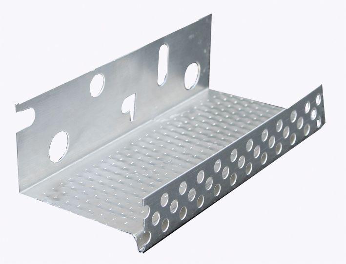 Цокольний профіль для утеплювача 2,5м алюмінієва цокольна планка для мінвати та пінопласту