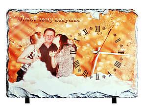 Фотокамень с часами SH37 (37х25 см) с Вашим дизайном