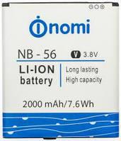 Аккумулятор для Nomi i503 - NB-56 3.8V 2000 mAh