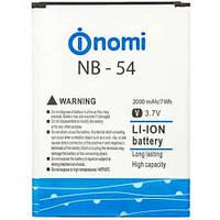 Аккумулятор для Nomi i504 - NB-54 3.8V 2000 mAh