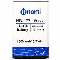 Аккумулятор для Nomi i177/ i180/ i181 - NB-177 3.8V 1000 mAh