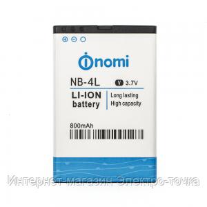 Аккумулятор на Nomi i240 NB-4L 3.7V 800 mAh
