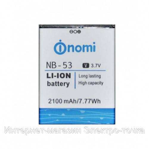 Аккумулятор на Nomi i502 NB-53 3.7V 2100 mAh