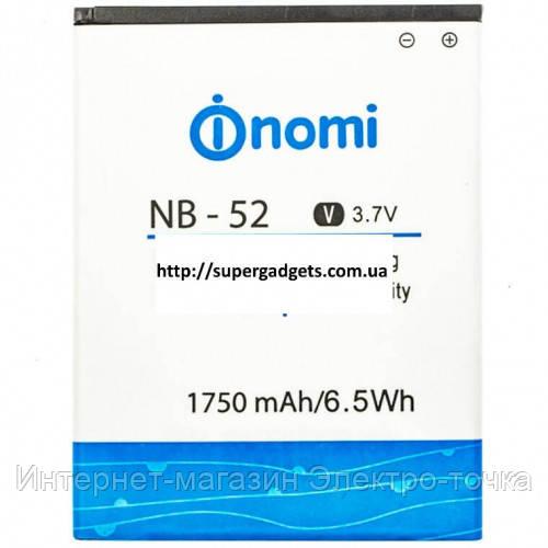 Аккумулятор на Nomi i501 NB-52 3.7V 1750 mAh