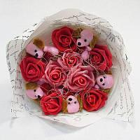 Букет из игрушек Собачки розовые 5 Крафт