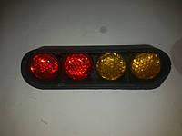 Автомобильный декоративный болт номера (желто-красный)светоотражающий