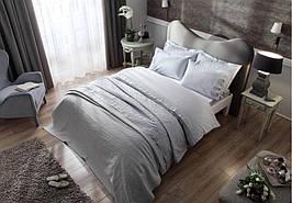 Подарочный набор постельное белье, покрывало и полотенца TAC AVON GRI