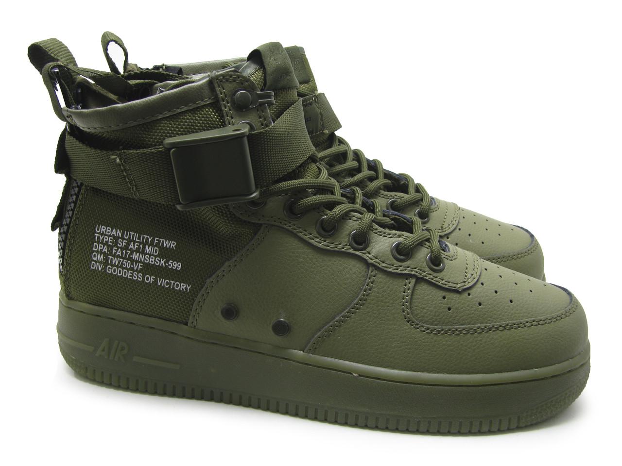 Мужские кроссовки Nike SF Air Force 1 Utility Mid Haki
