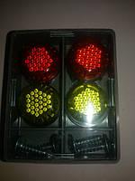 Автомобильный саморез катафот декоративный ( цвет желто-красный ) светоотражающий