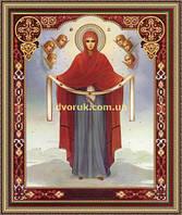 Образ Богородиця Покрова 200х240мм №214 в багетній рамці