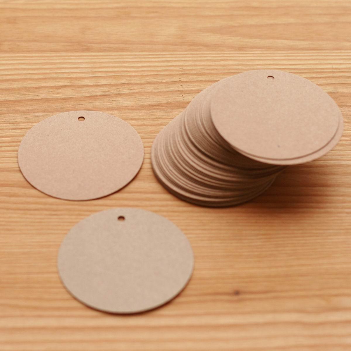 Бирка картонная круглая, 65мм