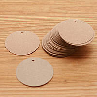 Бирка картонная круглая, 65мм, фото 1