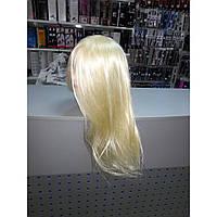 "Голова-манекен SPL штучне волосся ""блондин"" 50-55см + штатив 518/C-613, фото 1"