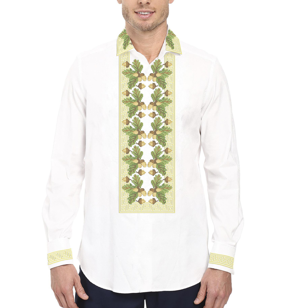 Заготовка чоловічої сорочки та вишиванки для вишивки чи вишивання бісером  Бисерок «Дубочки 520» ( 350bb0686bd47