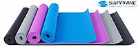 Коврик для йоги и фитнеса  Sapphire  3 мм