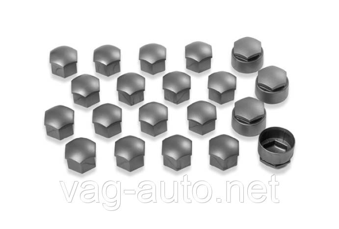 Комплект колпачков колесных болтов/секретных болтов, серый матовый