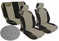 Майки сидения на весь салон MILEX Racing сетка серо-черные 23088/4