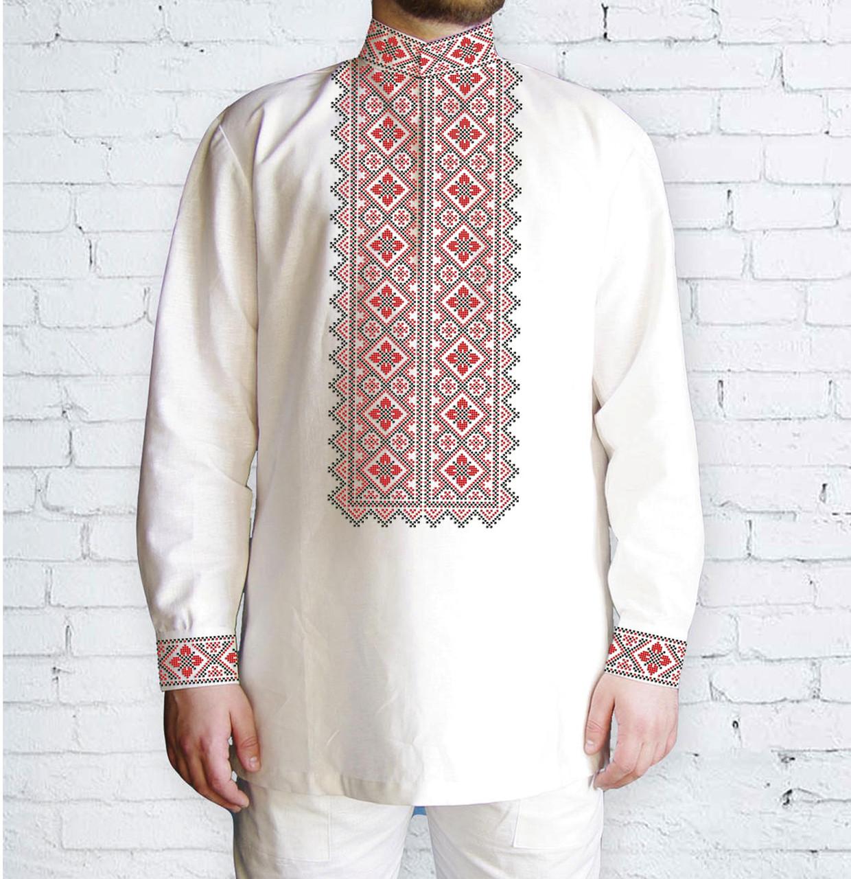 Заготовка чоловічої сорочки та вишиванки для вишивки чи вишивання бісером Бисерок «542 Ч» (Ч-542 Ч  )