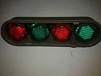 Автомобильный декоративный болт номера ( зелено-красный ) светоотражающий