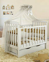 Детская кроватка L 7 Premium  (Белый цвет)