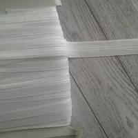 Коса бейка стрейч, 1,5 см.  білий колір