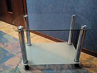 Столик стеклянный 750х450 мм