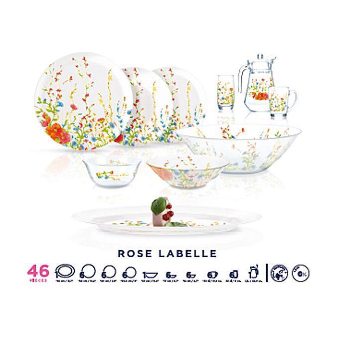 Simply Rose Labelle Сервиз столовый 46 пр. Luminarc N7247