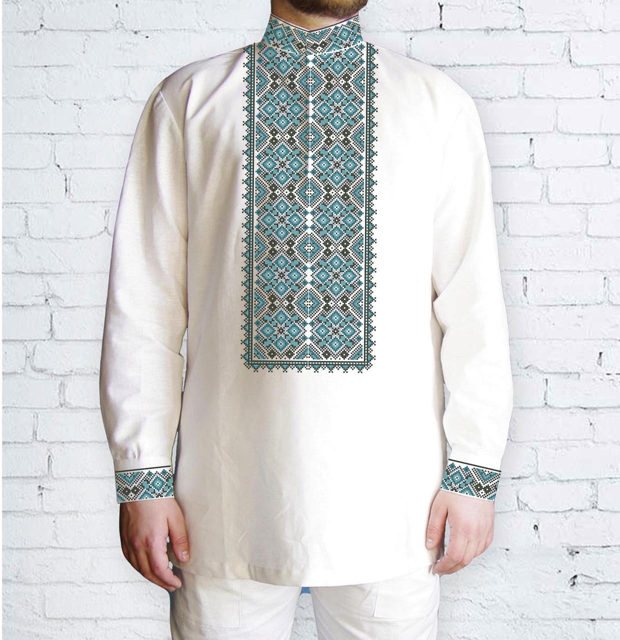 Заготовка чоловічої сорочки та вишиванки для вишивки чи вишивання бісером Бисерок «539 Зелена» (Ч-539  )