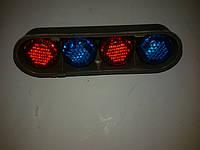 Автомобильный декоративный болт номера ( сине-красный ) светоотражающий