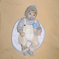 Кукла реборн 57 см полностью виниловый мальчик Андрюша
