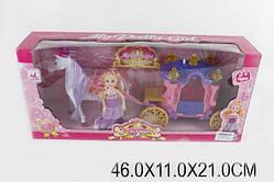 Карета с лошадкой и куколкой. Звук, свет (05011)