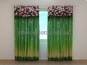 """Фото шторы """"Ламбрекены из цветов. Умиление"""" 250 х 260 см"""