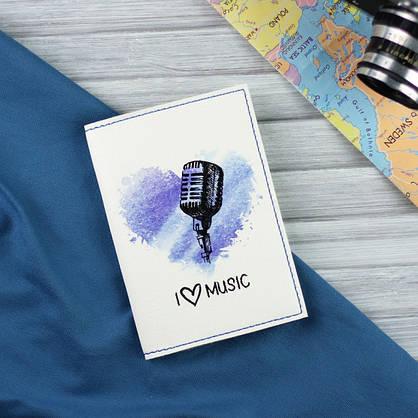 """Обложка для паспорта """"I love music"""" + блокнотик, фото 2"""
