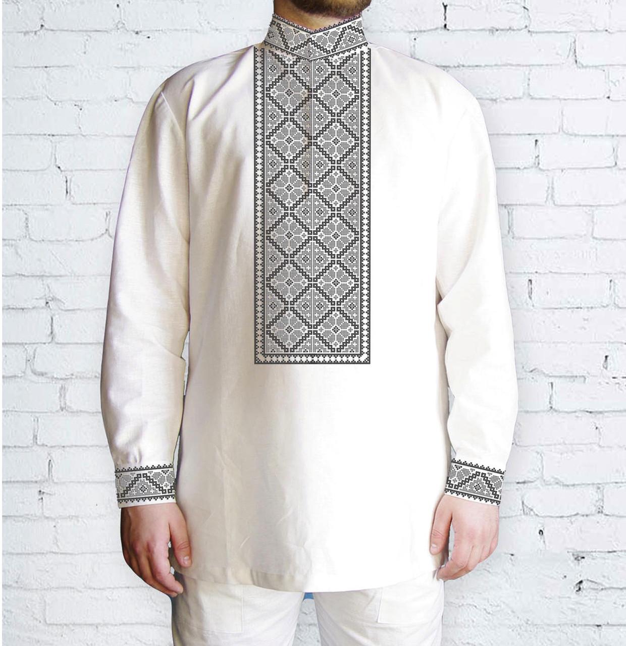 Заготовка чоловічої сорочки та вишиванки для вишивки чи вишивання бісером Бисерок «Орнамент 515 С» (Ч-515 С )