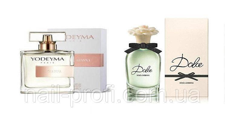 Парфюмированная вода Gianna от Yodeyma 100мл (реплика Dolce- Dolce & Gabbana)