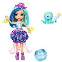 Набор Друзья из подводного мира Enchantimals кукла Медуза Джесса - Меняет цвет волос FKV57