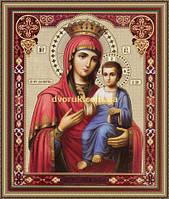 Образ Богородицы Иверская 200х240мм №210 в багетной рамке